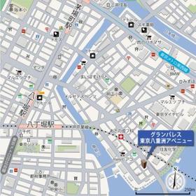 グランパレス東京八重洲アベニュー案内図