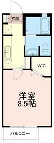 メゾンパティオ2階Fの間取り画像