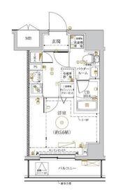 LUMEED川崎4階Fの間取り画像