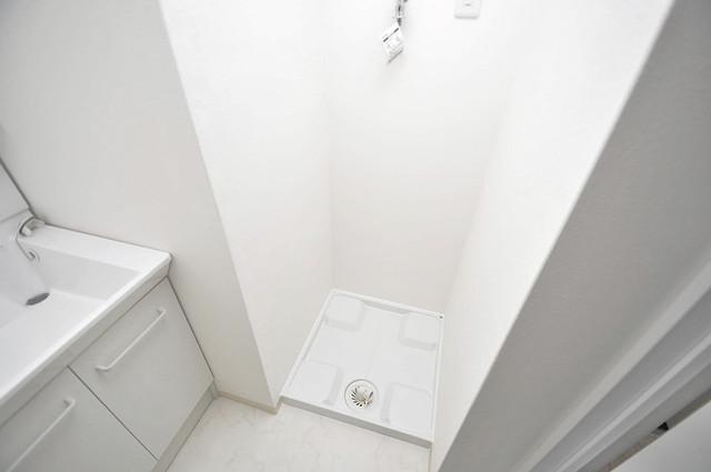 ラ・ハイール北巽 嬉しい室内洗濯機置場。これで洗濯機も長持ちしますね。