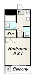 メゾンキム2階Fの間取り画像