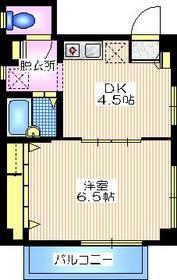 スカイドルフ2階Fの間取り画像