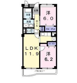 メルベーユ1階Fの間取り画像