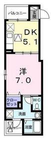 ルーチェ磯子1階Fの間取り画像