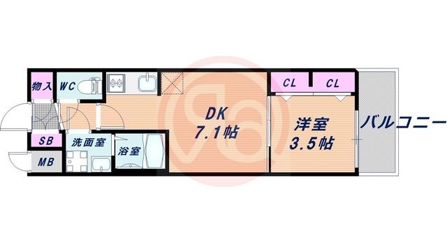 8階の間取り図