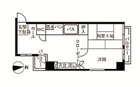 京王多摩川駅 徒歩20分6階Fの間取り画像