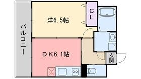 グリチーネ9階Fの間取り画像