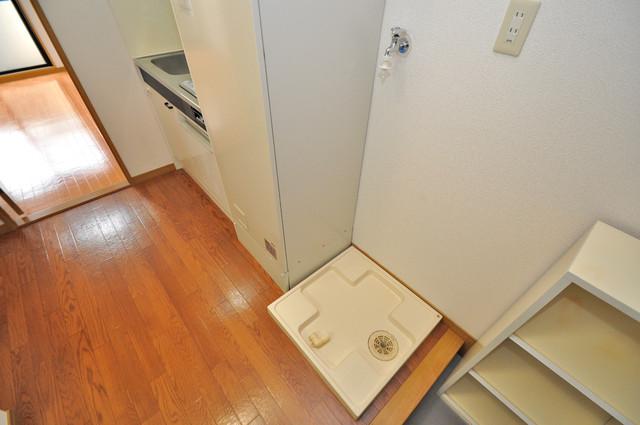 ロンモンターニュ小阪 室内に洗濯機置き場があるのは、うれしいですね。