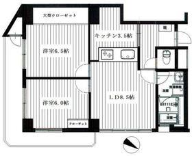 KONDO HEIGHTS5階Fの間取り画像
