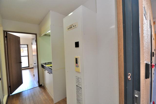 グランメール永和 電気温水器がついています。深夜電力で電気代もお得です。
