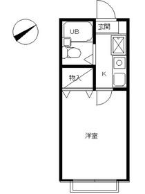 スカイピア二子新地1階Fの間取り画像