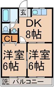 DK8帖 洋室6帖 洋室6帖