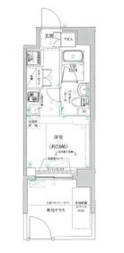クラリッサ横浜アレッタ1階Fの間取り画像