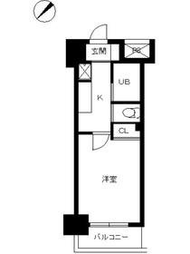 スカイコート品川仙台坂3階Fの間取り画像