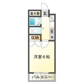 豊田ガーデンハイツ1階Fの間取り画像