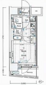 ヴェルシード阪東橋マキシヴ3階Fの間取り画像