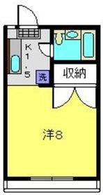 サニーフラットJ・W2階Fの間取り画像