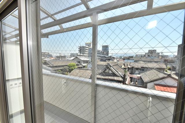 クリエオーレ高井田西 この見晴らしが陽当たりのイイお部屋を作ってます。