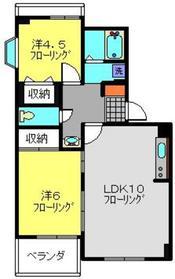 ニューハウジング藤1階Fの間取り画像