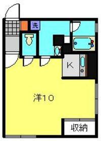 メゾンONE1階Fの間取り画像