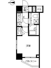 スカイコート川崎西口3階Fの間取り画像