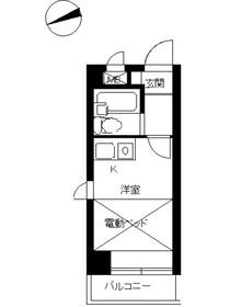 スカイコート西川口第42階Fの間取り画像