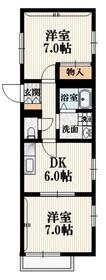 メゾンドフェルメール2階Fの間取り画像