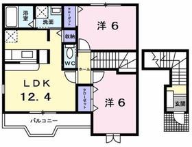 ミーテ メゾン2階Fの間取り画像