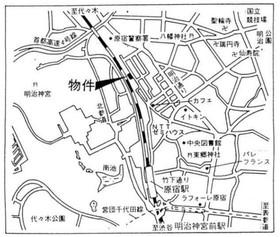 北参道駅 徒歩5分案内図