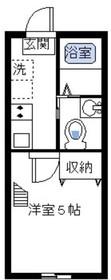 コモド日吉本町1階Fの間取り画像
