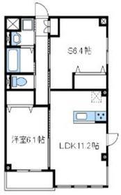 厚木市栄町新築マンション1階Fの間取り画像