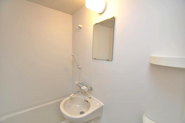 メゾン松村 可愛いいサイズの洗面台ですが、機能性はすごいんですよ。