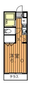 メゾンスズエン1階Fの間取り画像