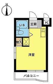 スカイコート新宿落合第44階Fの間取り画像