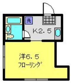 松岡荘2階Fの間取り画像