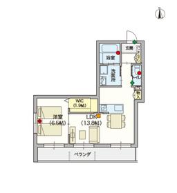 (シニア限定)メゾン インフィニティ川崎大師2階Fの間取り画像
