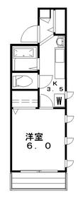 北町館2階Fの間取り画像