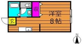 生坂サンプラザ2階Fの間取り画像