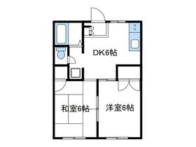 本厚木駅 バス10分「舛割」徒歩2分1階Fの間取り画像