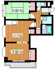 パラシオン・コチョー4階Fの間取り画像