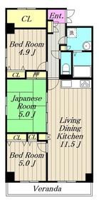 桜ヶ丘駅 徒歩30分6階Fの間取り画像