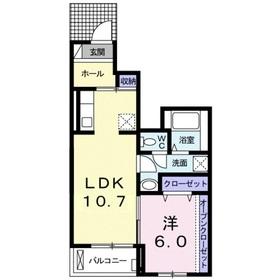 ラエテルノフィオーレ1階Fの間取り画像