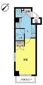 スカイコート日本橋人形町7階Fの間取り画像