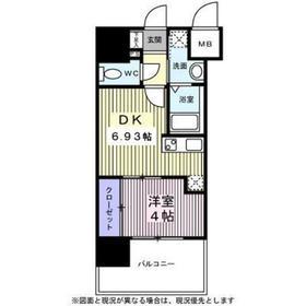 アルティザ仙台花京院6階Fの間取り画像