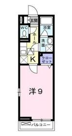 エアリーテラスⅡ1階Fの間取り画像