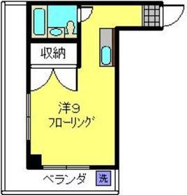 元住吉駅 徒歩20分2階Fの間取り画像