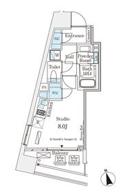 パークナードフィット南青山Vista5階Fの間取り画像