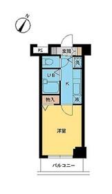 スカイコート神楽坂壱番館2階Fの間取り画像