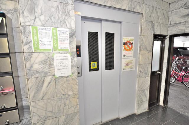 マンションサンパール エレベーター付き。これで重たい荷物があっても安心ですね。