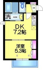 メゾンボヌール2階Fの間取り画像